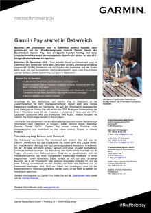 Garmin Pay startet in Österreich