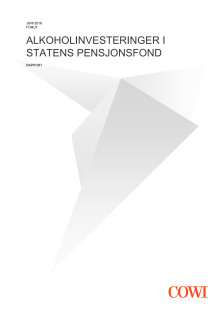 COWI-rapport: Alkoholinvesteringer i statens pensjonsfond
