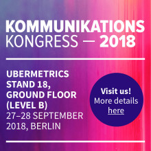 Ubermetrics beim Kommunikationskongress 2018 in Berlin