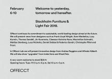 Stockholm Furniture Fair 2018 Feb 6-10