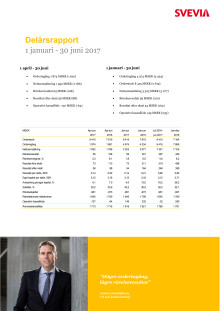 Svevia delårsrapport januari-juni 2017