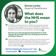 WHAT THE NHS MEANS TO FINEGREEN - DONNA LARDER