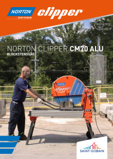 Norton Clipper Blockstenssåg CM70 Alu - Broschyr