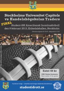 Imorgon: Laddat finalmöte mellan Stockholms universitet och Handels i Student-SM i amerikansk inomhusfotboll