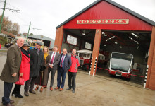 Opening of Beamish Museum's new bus depot to preserve transport heritage