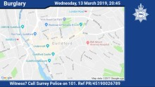 Appeal for witnesses following aggravated burglary in Ash Green
