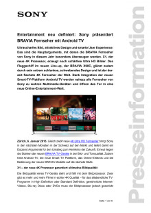 Medienmitteilung_CES 2015_BRAVIA Line-up_D-CH_150106