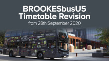 BROOKESbusU5 revision from 28th September 2020
