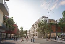 Förslag för nya bostäder och lokaler i Mölnlycke centrum