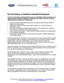Ny Ford Galaxy er familiens luksusbil til langturen
