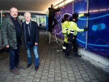 Konst och ljus skapar ny och trygg miljö i Nobeltunneln