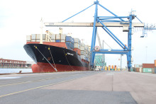 Record at container terminal in Copenhagen
