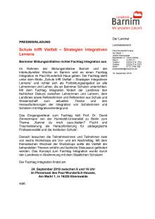 Einladung Fachtag Integration