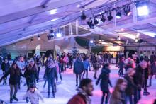 Eröffnungsfeier des Stadtwerke Eisfestivals mit Licht- und Lasershow und Eisdisco!
