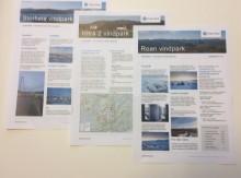 Tre nyhetsbrev i postkassen til naboer av Roan, Storheia og Hitra 2 vindparker