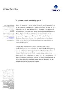 Zurich mit neuer Marketing-Spitze