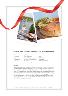 Recept: Quiche med chèvre, sparris och rökt fläskbog
