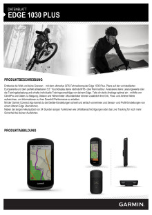 Datenblatt Garmin Edge 1030 Plus