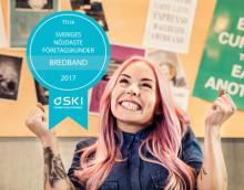 Telia har Sveriges nöjdaste företagskunder för bredband enligt Svenskt kvalitetsindex 2017