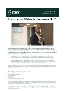 Sizes utser Niklas Andersson till VD