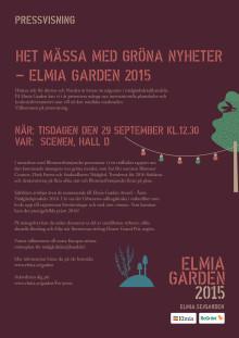 Välkommen till Elmia Gardens pressvisning den 29/9 kl 12.30