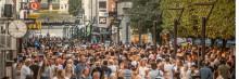 Borås city, tredje störst bland landets 15 största städer
