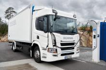 Vollelektrischer Scania Lkw mit bis zu 250 km Reichweite