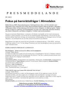 Pressmeddelande Rädda Barnen i Almedalen 2011