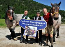 """Das Paulaner Wiesngespann hat eine neue Heimat - Sepp Zunterer aus Mittenwald ist ab sofort """"Paulaner Kutscher""""."""