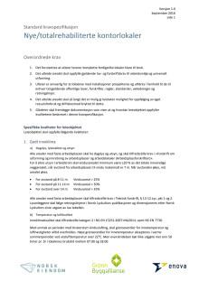 Standard kravspesifikasjon for nye/totalrehabiliterte kontorlokaler