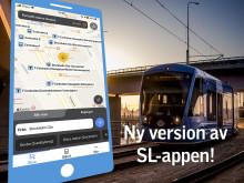Lättare att orientera sig när SL-appen byter look