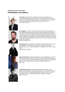 Bio paneldeltakere og ordstyrer