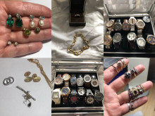 Images of jewellery and watches released following burglaries in Fareham and Gosport.