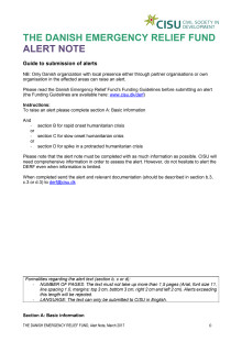 2020-009 Alert Note from BDM