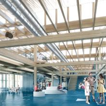 Arkitema utvikler skisse til skole og idrettshall på Sofiemyr