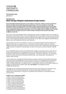 Gävle Sveriges billigaste studentstad att köpa bostad i
