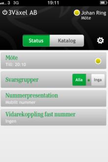 Mobiloperatören 3 lanserar 3Växel som app