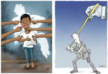 Hotade tecknare och kampen för yttrandefrihet i ny utställning - Hurra för yttrandefriheten!