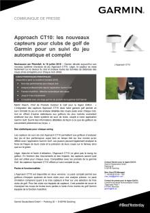 Approach CT10: les nouveaux capteurs pour clubs de golf de Garmin pour un suivi du jeu automatique et complet