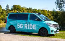 Självkörande, eldriven och 5G-uppkopplad -  premiärtur för framtidens kollektivtrafik på Kungliga Djurgården