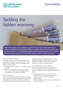 HMRC Briefing - Tackling the hidden economy