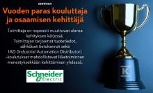 Schneider Electric vastaanotti Onnisen ''Vuoden paras kouluttaja ja osaamisen kehittäjä'' -palkinnon