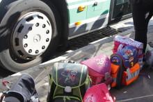 Barnimer Abc-Schützen lernen Bus fahren