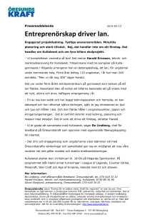 Entreprenörskap driver lan