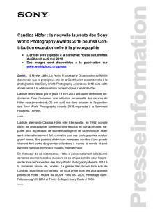 Candida Höfer : la nouvelle lauréate des Sony World Photography Awards 2018 pour sa Contribution exceptionnelle à la photographie