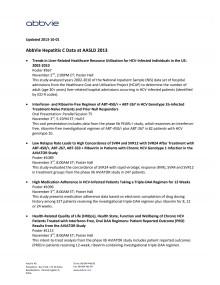 Hepatit C data at AASLD - AbbVie