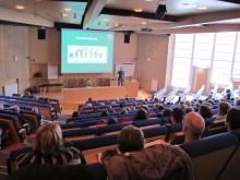 Naprapater föreläser på Malmös universitetssjukhus.