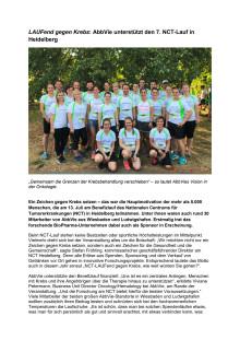LAUFend gegen Krebs: AbbVie unterstützt den 7. NCT-Lauf in Heidelberg
