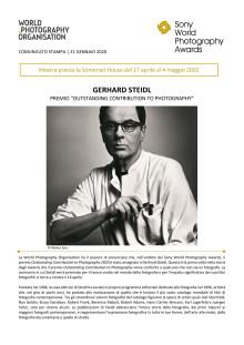 "GERHARD STEIDL PREMIO ""OUTSTANDING CONTRIBUTION TO PHOTOGRAPHY"""