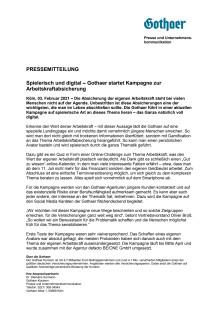 Spielerisch und digital – Gothaer startet Kampagne zur Arbeitskraftabsicherung